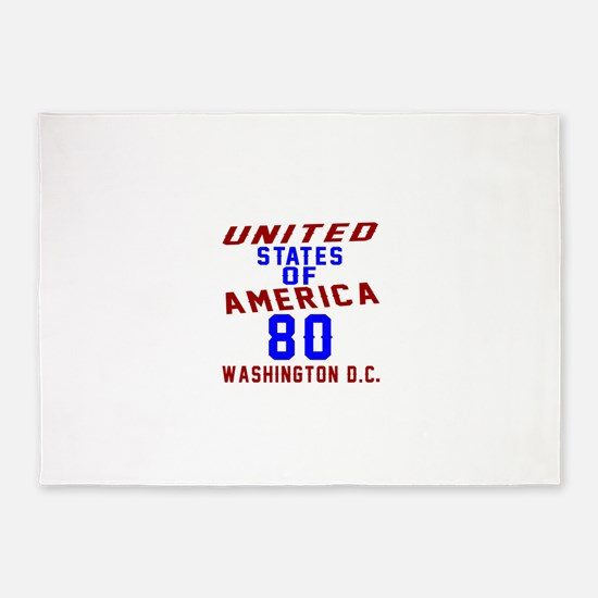 America 80 Birthday 5'x7'Area Rug