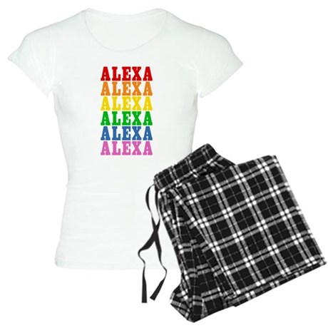 Rainbow Name Women's Light Pajamas