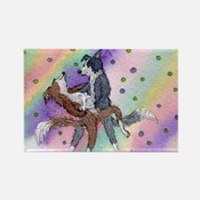 Ballroom dancing dogs Rectangle Magnet (100 pack)