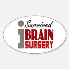 Brain Surgery Survivor Sticker (Oval)