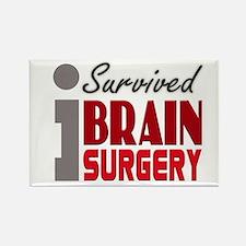 Brain Surgery Survivor Rectangle Magnet