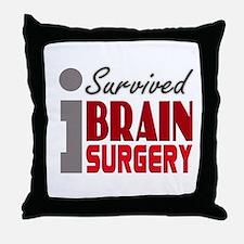 Brain Surgery Survivor Throw Pillow