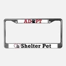 Adopt a Shelter Pet License Plate Frame