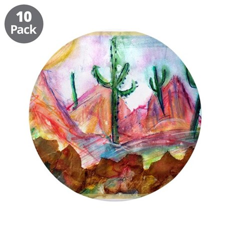 "Desert, colorful, 3.5"" Button (10 pack)"