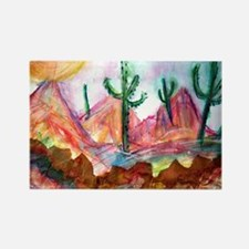 Desert, colorful, Rectangle Magnet