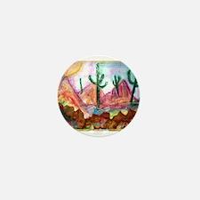Desert, colorful, Mini Button
