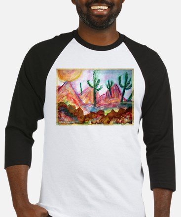 Desert, colorful, Baseball Jersey