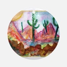 Desert, colorful, Ornament (Round)