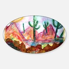 Desert, colorful, Sticker (Oval)