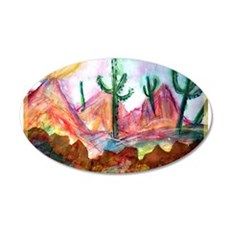 Desert, colorful, 22x14 Oval Wall Peel
