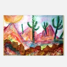 Desert, colorful, Postcards (Package of 8)