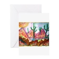 Desert, colorful, Greeting Card