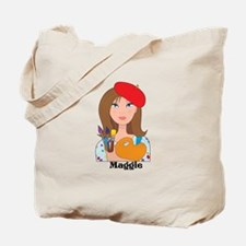 Lady Artist Tote Bag