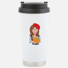 Lady Artist Stainless Steel Travel Mug