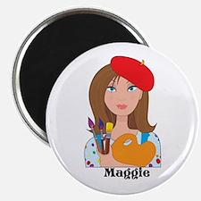 "Lady Artist 2.25"" Magnet (10 pack)"