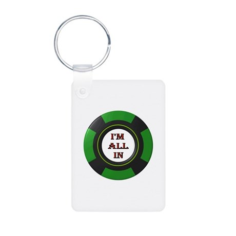 GO ALL IN Aluminum Photo Keychain