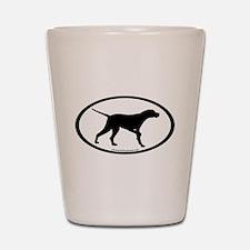 Pointer Dog Oval Shot Glass