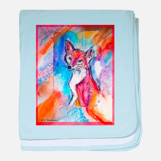 Fox, colorful, baby blanket