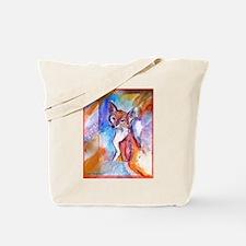 Fox, colorful, Tote Bag