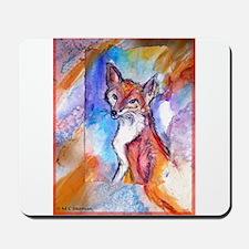Fox, colorful, Mousepad