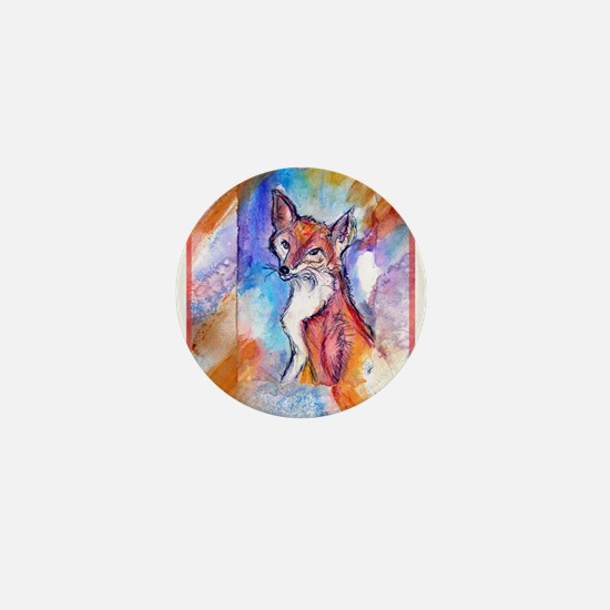 Fox, colorful, Mini Button