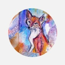 "Fox, colorful, 3.5"" Button"