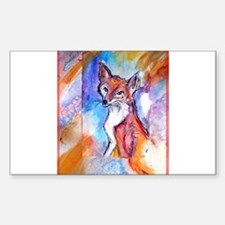Fox, colorful, Decal