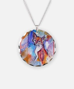 Fox, colorful, Necklace