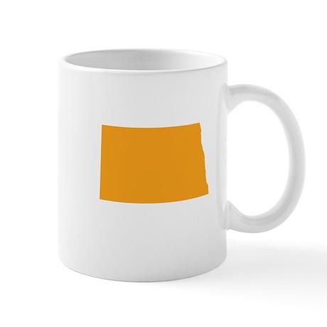 Orange North Dakota Mug