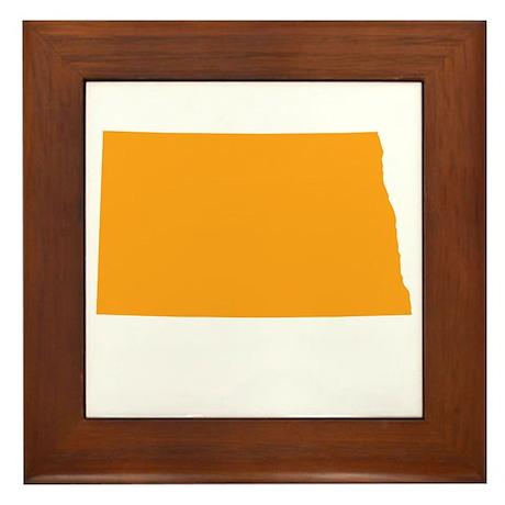 Orange North Dakota Framed Tile