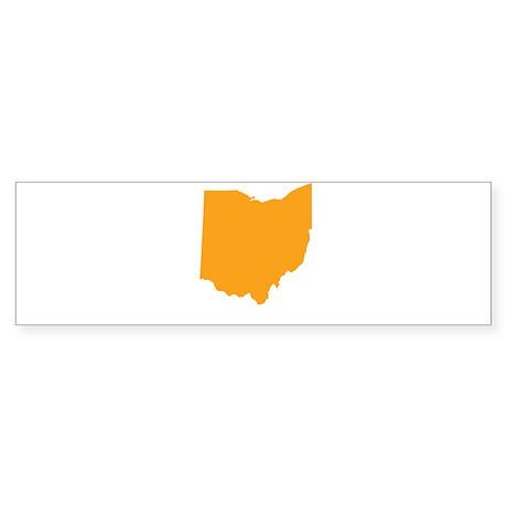 Orange Ohio Sticker (Bumper)