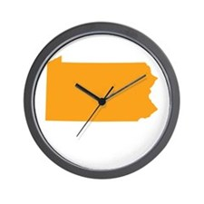 Orange Pennsylvania Wall Clock