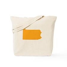 Orange Pennsylvania Tote Bag