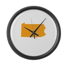 Orange Pennsylvania Large Wall Clock
