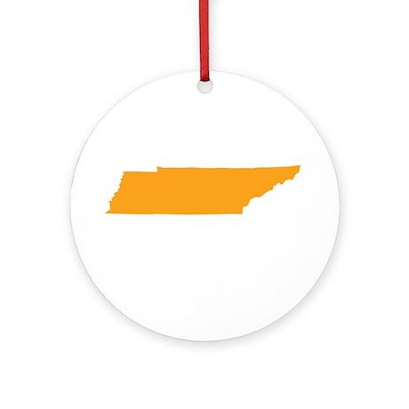 Orange Tennessee Ornament (Round)