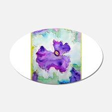 Purple Pansy, colorful, art, 22x14 Oval Wall Peel