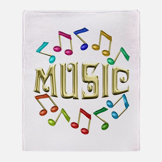 Golden Music Throw Blanket