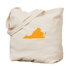 Orange Virginia Tote Bag