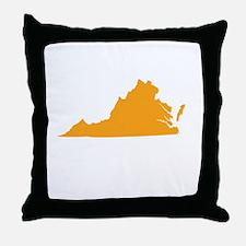 Orange Virginia Throw Pillow