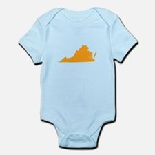 Orange Virginia Infant Bodysuit