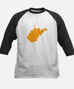 Orange West Virginia Kids Baseball Jersey
