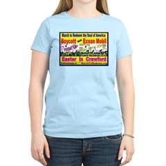 BOYCOTT - EXXON MOBIL - NOW Women's Pink T-Shirt