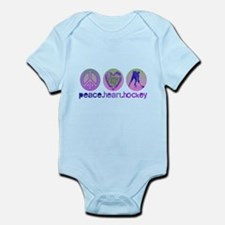 PEACE HEART HOCKEY Infant Bodysuit