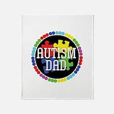 Autism Dad Throw Blanket