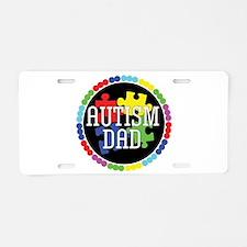 Autism Dad Aluminum License Plate
