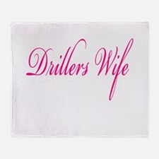 Drillers Wife Throw Blanket
