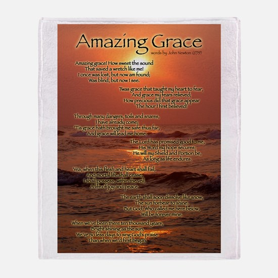Amazing Grace Throw Blanket