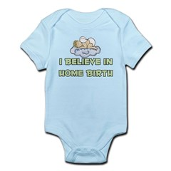 I believe in Home Birth Infant Creeper