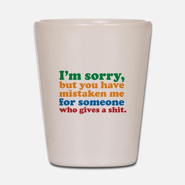 I Don't Care Shot Glass