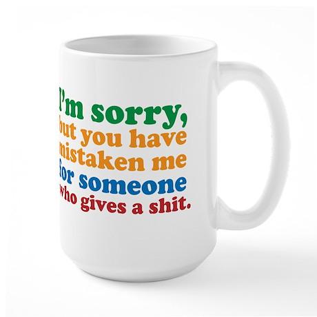 I Don't Care Large Mug